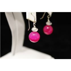 Gorgeous Pink Ruby Earrings (1M)