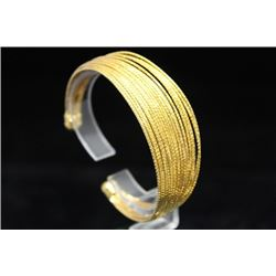 Dazzling 14kt Gold over Silver Bangle (5M)