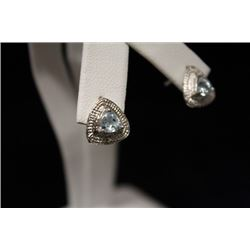 Dazzling Topaz & Diamond Silver Earrings (23M)