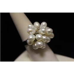 Gorgeous Pearl Silver Ring (37M)