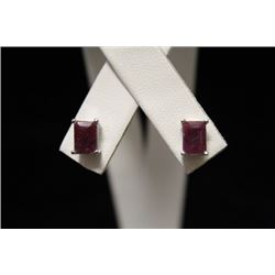 Exquisite Ruby Silver Earrings (54M)