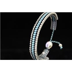 Fine Links London Blue & Black Silver Bracelet (84M)