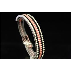 Exquisite Links London Pink & Black Silver Bracelet (96M)