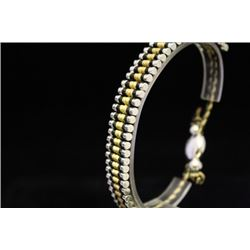 Stunning Links London Black & Tan Silver Bracelet (103M)