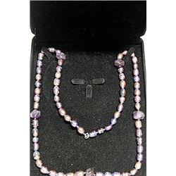BLACKISH GRAY BAROQUE PEARL NECKLACE