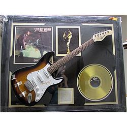 Legendary Steve Ray Vaughan Autographed Gold Record Guitar