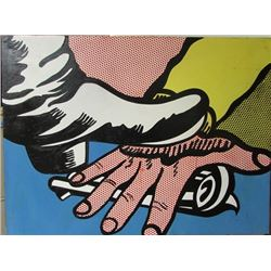 Roy Lichtenstein - Foot and Hand 1988 Oil