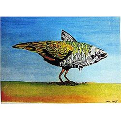 Max Ernst - The Bird 1930 Watercolor