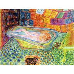 Pierre Bonnard - Woman in the Bathtub 1910 Pastel