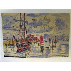 Paul Signac - The Port of Saint Tropez Watercolor