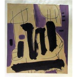 Robert Motherwell - Composition Watercolor