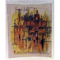 Bernard Buffet - Paris Watercolor