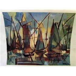 Mirta Cerra - The Boats Watercolor