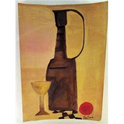 Julius Bissier - Jug and Cup Watercolor