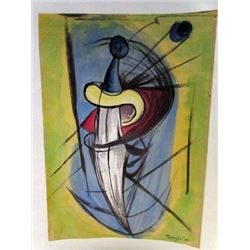 Rufino Tamayo - The Sword Watercolor