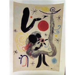 Joan Miro - The Dragon Watercolor