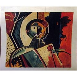 Rufino Tamayo - The Robot Watercolor