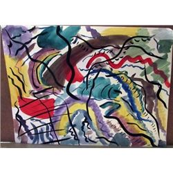 Wassily Kandinsky - Composition V Watercolor