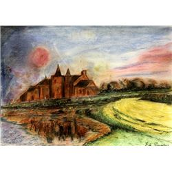 Untitled Pastel On Paper - Ferdinand Du Puigaudeau