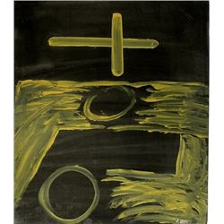 The Church - Antoni Tapies - Oil On Paper