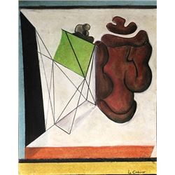 My Heart - Le Corbusier - Pastel On Paper