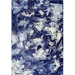Blue II - Rudolf Stingel - Oil On Paper