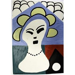 Woman With Pearls - Henri Matisse - Oil On Paper