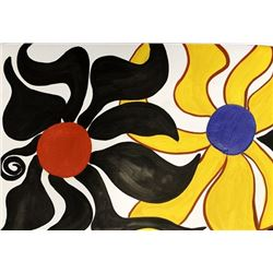 Two Sun - Alexander Calder - Oil On Paper