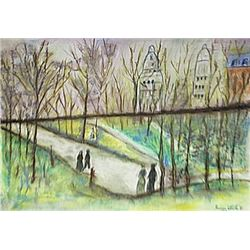 Untitled Pastel On Paper - Maurice Utrillo