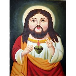 Jesucristo - Fernando Botero - Oil on Canvas
