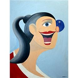 Ms Denisse - George Condo - Oil On Canvas