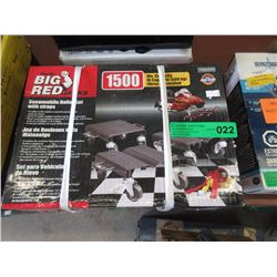 New Big Red Snow Mobile Rolling Jack Carts
