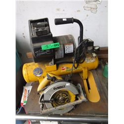 Air Compressor & Skill Saw