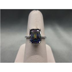 3.1 CT Mystic Topaz & Diamond Solitaire Ring