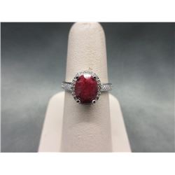 2.2 CT Ruby & Diamond Dinner Ring
