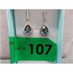 New Mystic Topaz & Diamond Dangle Earrings