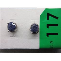 New Blue Sapphire & Diamond Earrings