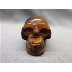 227.5 CT Genuine Tiger's Eye Skull