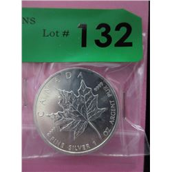 .9999 Fine Silver 2013 Mint Canada Maple Leaf Coin