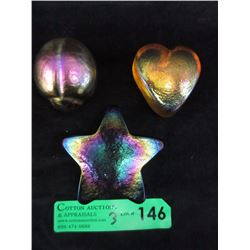 Robert Held Iridescent Scarab, Star & Heart