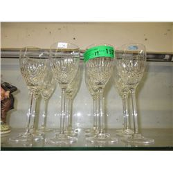 12 G. Durand Crystal Wine Glasses
