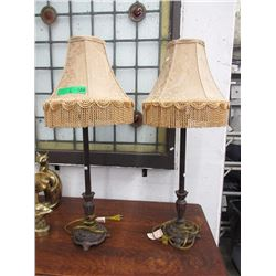 "Pair of 30"" Buffet Lamps with Shades"