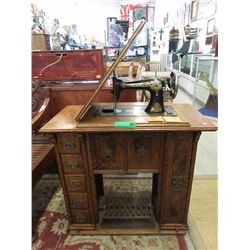 Oak Case Singer Treadle Sewing Machine