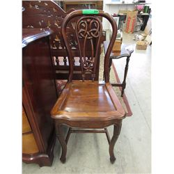 Art Nouveau Style Rosewood Chair