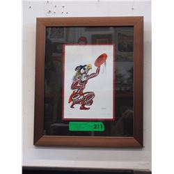 "Richard Shorty Framed Print - ""Thunder"""