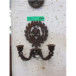 Cast Iron Candle Wall Sconce