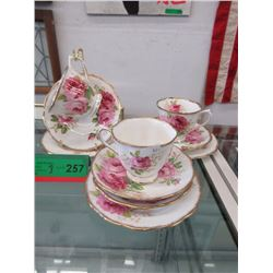 "3 Royal Albert ""American Beauty"" Luncheon Sets"