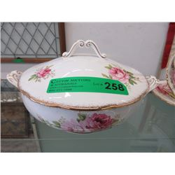 "Royal Albert ""American Beauty"" Lidded Serving Dish"