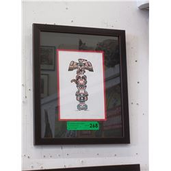 "Richard Shorty Framed Print ""Totem"""
