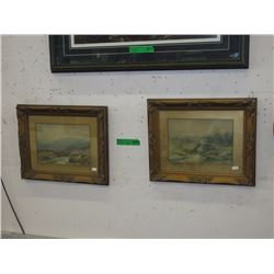 Pair of Vintage Prints in Matching Frames